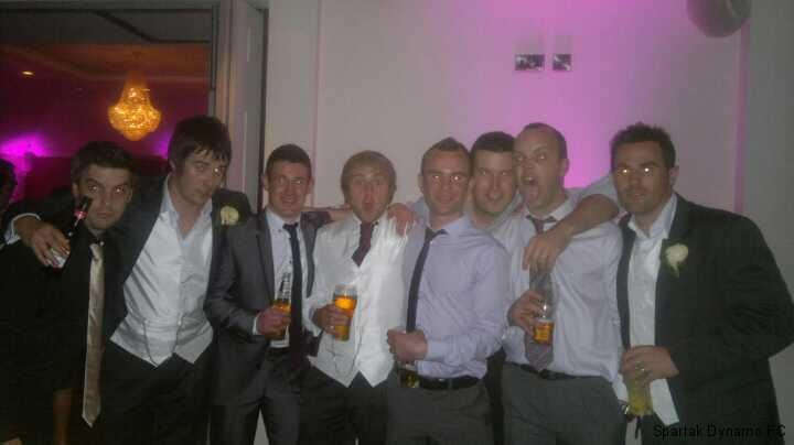 Spartak Lads at Mark's Wedding Sep 2011